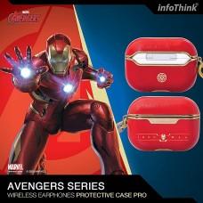 infoThink Marvel 系列 AirPods Pro 皮革保護套 - Iron Man