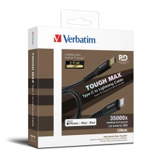 Verbatim Tough Max Type C to Lightning 充電傳輸線 - 120CM