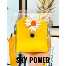 韓式 Daisy 透明斜孭袋